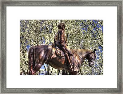 War Horses - The Picket - Brigadier General Judson Kilpatrick Commanding Battle Of Hanover Framed Print by Michael Mazaika