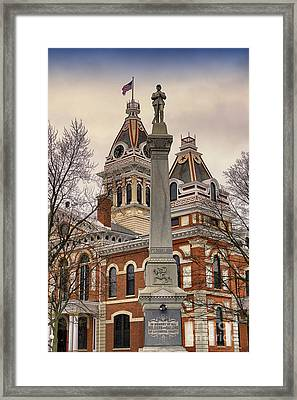 War Memorial Pontiac Il Framed Print by Thomas Woolworth