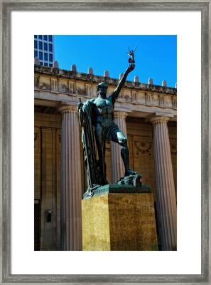 War Memorial Statue Youth In Nashville Framed Print by Dan Sproul
