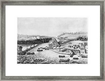 War Of 1812 Queenston Framed Print by Granger