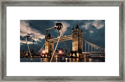 War Of The Worlds London Framed Print by Peter Chilelli