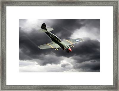 Warhawk Framed Print by Peter Chilelli
