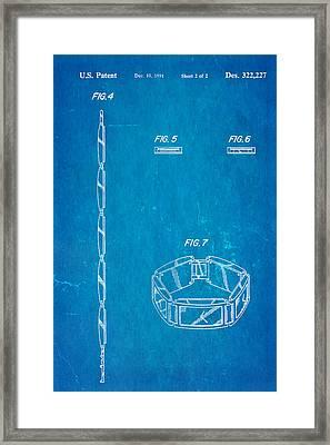 Warhol Five Face Watch 2 Patent Art 1991 Blueprint Framed Print by Ian Monk