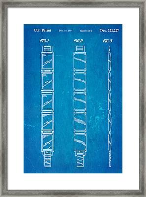 Warhol Five Face Watch Patent Art 1991 Blueprint Framed Print by Ian Monk