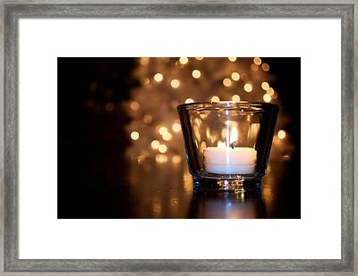 Warm Christmas Glow Framed Print by Lisa Knechtel