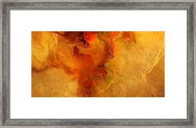 Warm Embrace - Abstract Art Framed Print by Jaison Cianelli