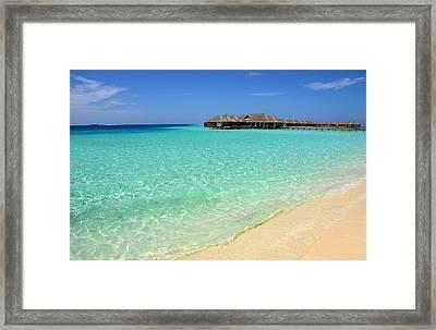 Warm Welcoming. Maldives Framed Print by Jenny Rainbow