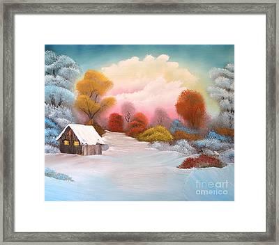 Warm Winter Sunset Framed Print by John Kemp