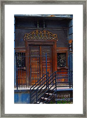 Warning Do Not Enter - Oil Painting Framed Print by Liane Wright