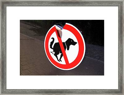 Warning To Dog Owners Framed Print by Mark Williamson