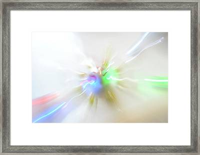 Warp Lights Framed Print by Frederico Borges