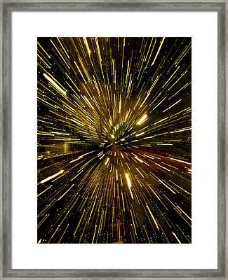 Warp Speed Framed Print by Hakon Soreide