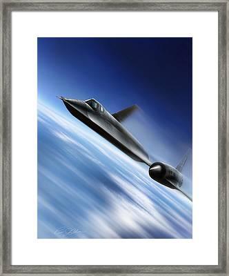 Warp Speed Framed Print by Peter Chilelli