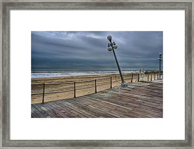 Warped Boardwalk Framed Print by Mike Horvath