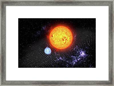Warped Space Time Framed Print by Take 27 Ltd