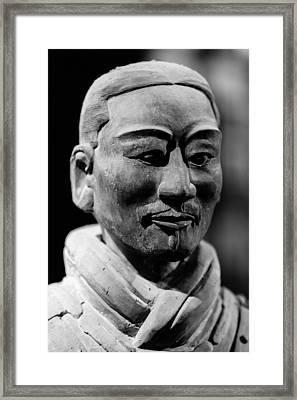 Warrior Framed Print by Angel Sosa