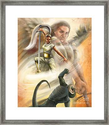 Warrior Framed Print by Tamer and Cindy Elsharouni