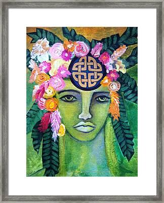 Warrior Goddess Framed Print by Tracie Hanson