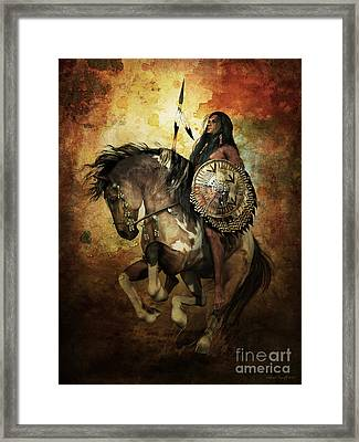 Warrior Framed Print by Shanina Conway