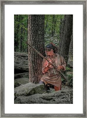 Warrior Stepping From Cover Framed Print by Randy Steele