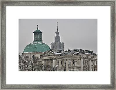 Warsaw Study In Architecture Framed Print by Steven Richman