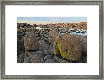 Warson Lake Framed Print by Christian Heeb