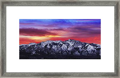 Wasatch Sunrise 2x1 Framed Print by Chad Dutson