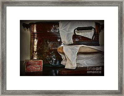 Wash And Ironing Day Framed Print by Paul Ward