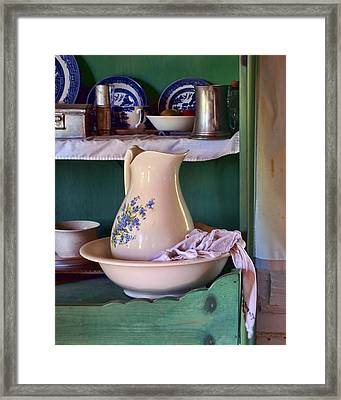 Wash Basin Still Life Framed Print by Nikolyn McDonald