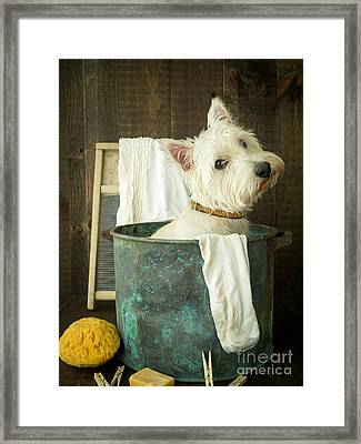 Wash Day Framed Print by Edward Fielding