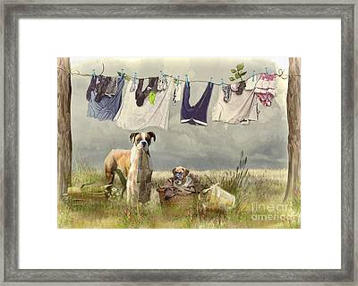 Wash Day Framed Print by Trudi Simmonds