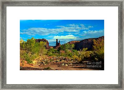 Wash Valley Of The Gods Framed Print by Robert Bales