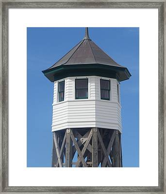 Wash Woods Coast Guard Tower Framed Print by Cathy Lindsey