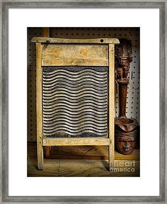 Washboard  Framed Print by Lee Dos Santos
