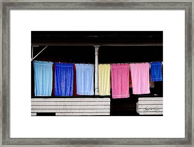 Washday Stark Nh Framed Print by Wayne King