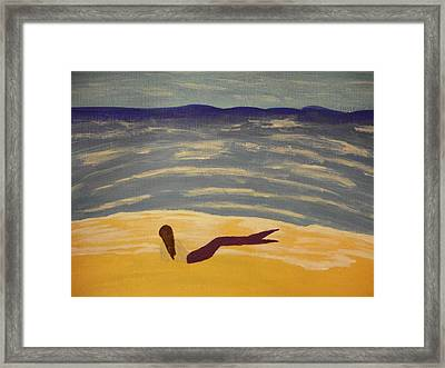 Washed Ashore Framed Print by Erica  Darknell