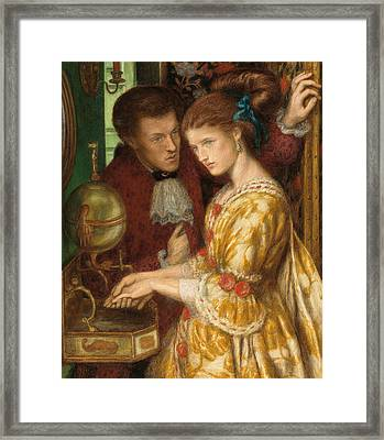 Washing Hands Framed Print by Dante Gabriel Charles Rossetti