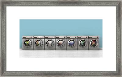 Washing Machine Full Single Framed Print by Allan Swart
