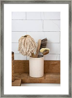 Washing Up Equipment Framed Print by Tom Gowanlock