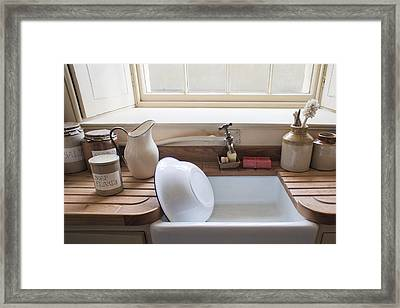 Washing Up Sink Framed Print by Tom Gowanlock
