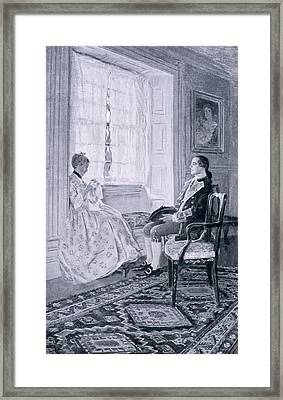 Washington And Mary Philipse, Illustration From Colonel Washington By Woodrow Wilson, Pub Framed Print by Howard Pyle