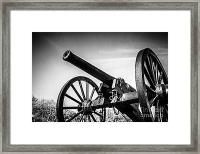 Washington Artillery Park Cannon In New Orleans Framed Print by Paul Velgos