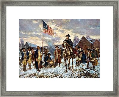 Washington At Valley Forge Framed Print by Edward Moran