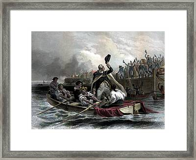 Washington Bids Adieu To His Generals  Framed Print by War Is Hell Store