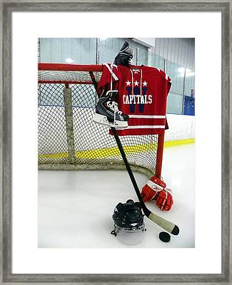 Washington Capitals Winter Classic 2015 Jersey Framed Print by Lisa Wooten