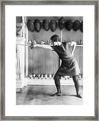 Washington Champion Fencer Framed Print by Underwood Archives