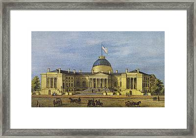 Washington City Hall Circa 1866 Framed Print by Aged Pixel