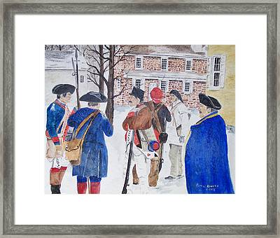 Washington Crossing Framed Print by Peter Kundra