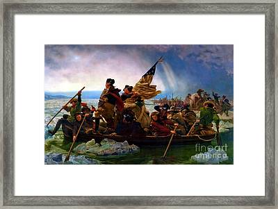 Washington Crossing The Delaware River Framed Print by Doc Braham
