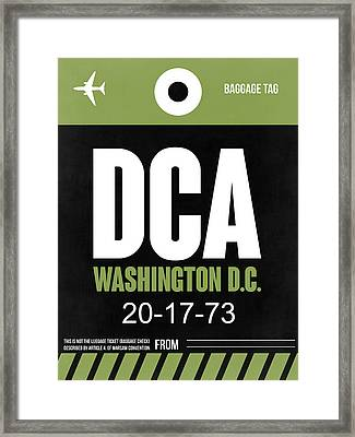 Washington D.c. Airport Poster 2 Framed Print by Naxart Studio